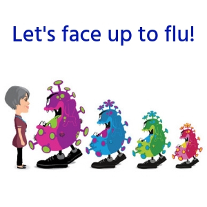 Let's face up to flu!