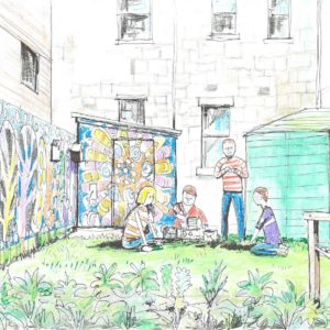Young people transform their environment through new garden space