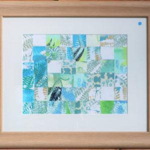 Woven fern print, wooden frame Price £30