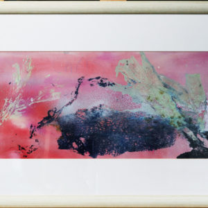 Seaweed print, wooden frame 30 x 16 inches Price £40