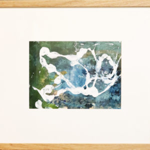 Blue splodge painting