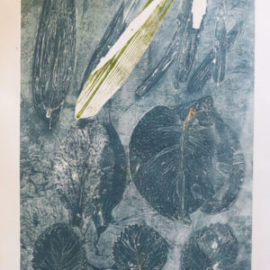 Grey weeds monoprint
