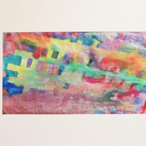 Fabric painting, subtle squares