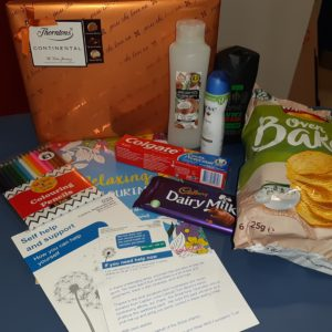 Trust sends wellbeing packs to lift patient spirits