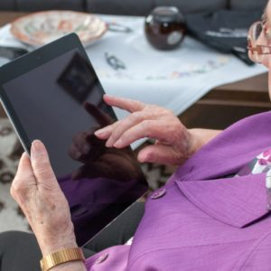 Patients use technology to talk to loved ones