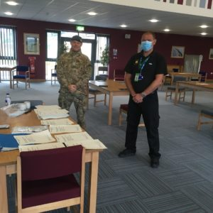 Staff give mental health training to RAF personnel