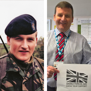 Richard's steps from the armed forces to an NHS career